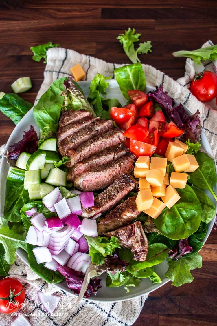 chopped steak salad recipe Chopped Steak Salad