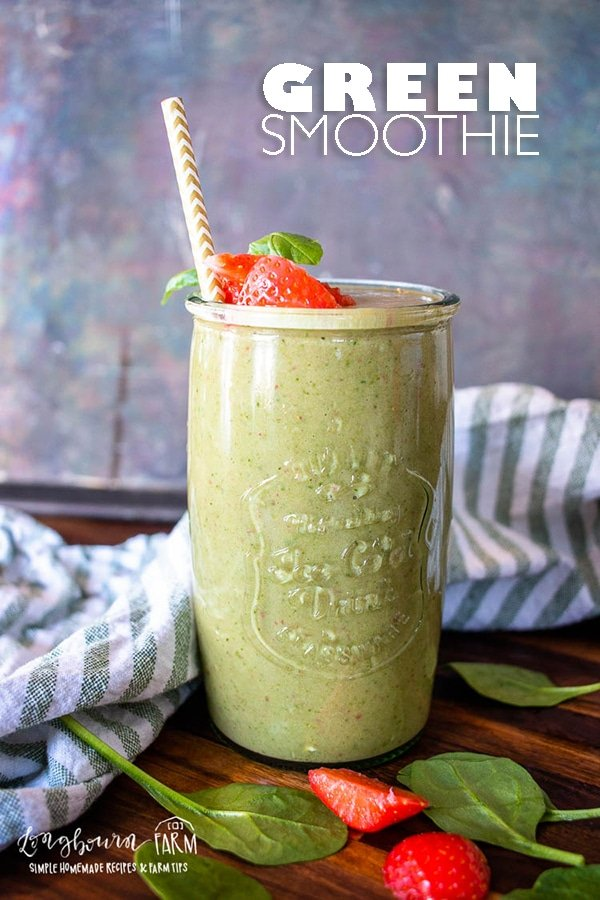 Green smoothies are easy to make and a delicious breakfast or snack. Packed with nutritious ingredients, these will be a family favorite in no time! #greensmoothies #greensmoothie #smoothie #smoothierecipe #smoothierecipes #howtomakegreensmoothies #howtomealprepsmoothies #mealprepsmoothies via @longbournfarm
