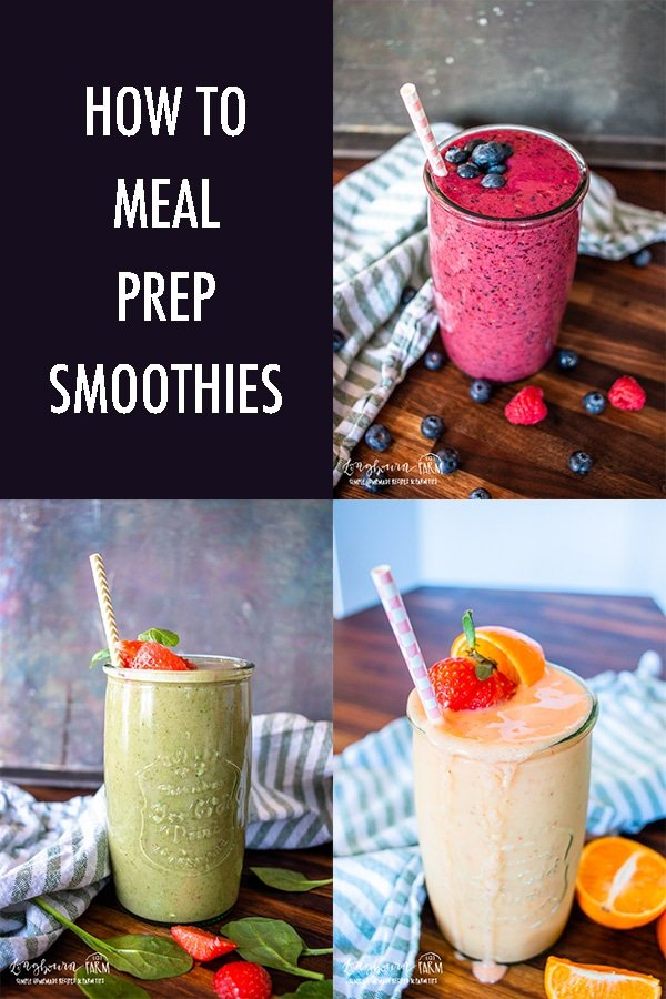 Learning how to meal prep smoothies is easy! Stock your freezer so you have a stash of quick and healthy breakfasts or snacks ready for any time. #smoothies #howtomakesmoothies #mealprepsmoothies #mealprep #mealprepping #howtomealprep #mealprepsmoothies #smoothierecipes #smoothierecipe via @longbournfarm
