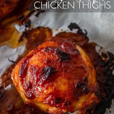 Baked BBQ Chicken Thighs are an easy dinner that the whole family will love! Done in just 35 minutes, it's a winner for any day of the week.