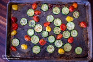 oven roasted zucchini and tomatoes