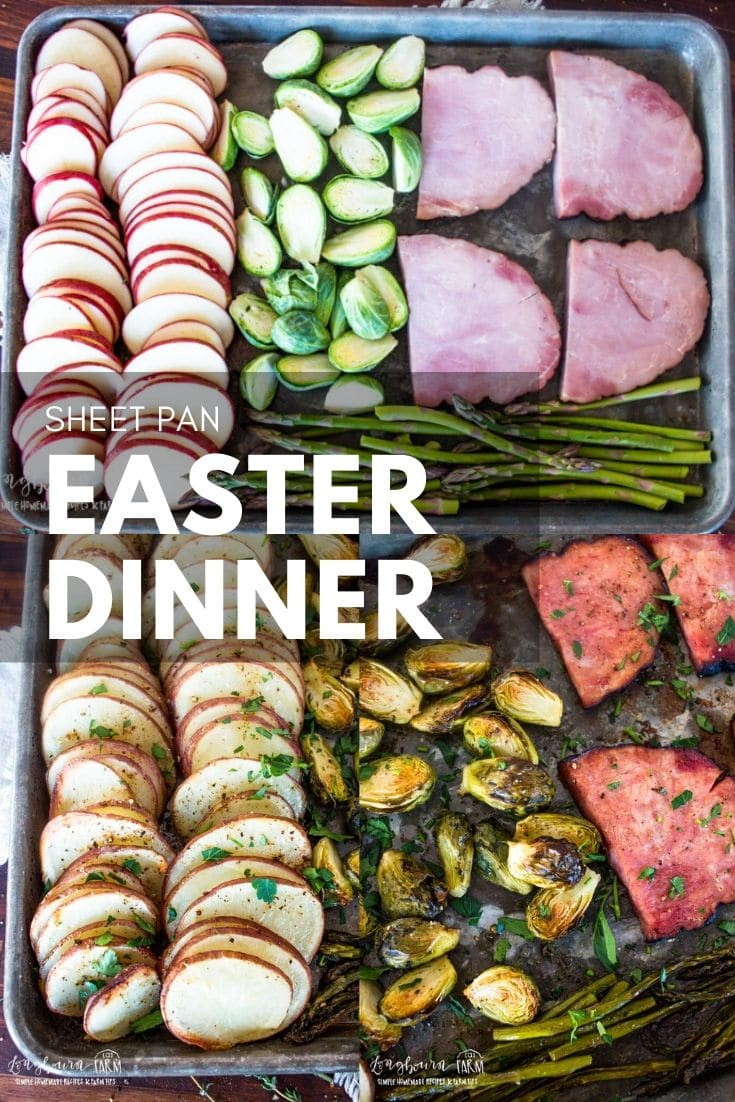 Make this easy Easter dinner on a single sheet pan! Done from start to finish in just 20 minutes, you'll impress everyone with this simple meal. via @longbournfarm