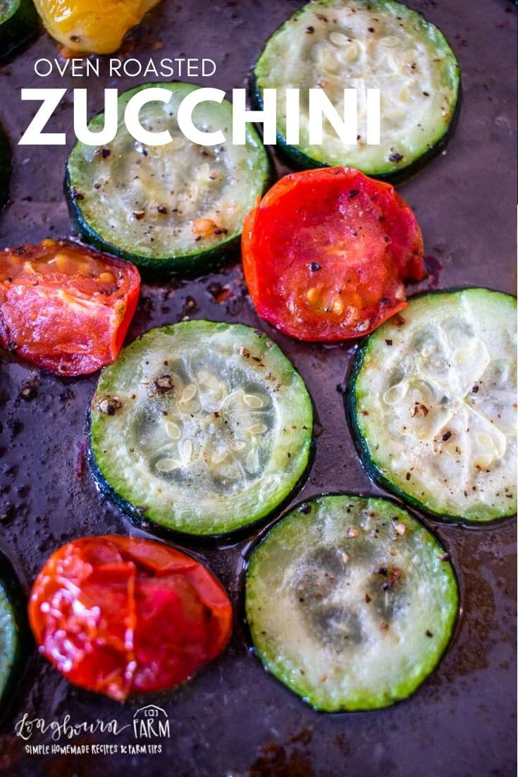 Oven-roasted zucchini is a quick and easy veggie side dish! Slightly caramelized veggies packed with flavor. Get it on the table in less than 20 minutes. via @longbournfarm