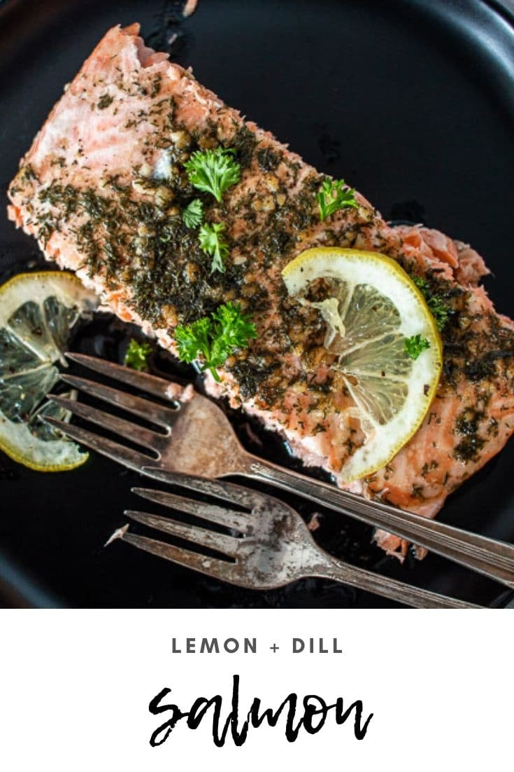 Lemon dill salmon is a deliciously simple but flavorful dinner. Easy preparation and a quick bake time means that a delicious dinner is ready to go quickly! via @longbournfarm