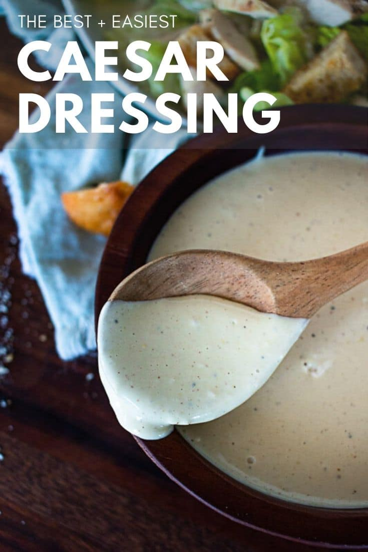 The best caesar salad dressing recipe you've been looking for! Tangy, creamy, and deliciousness packed into every bite. It will be a hit! via @longbournfarm