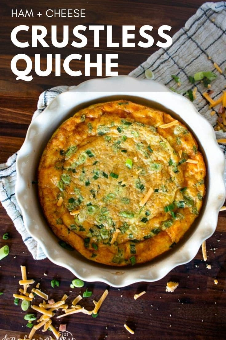 Crustless quiche is a super easy way to put a breakfast together in a matter of minutes. Flavor in every bite and a fast favorite!