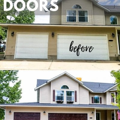 Learning how to gel stain garage doors is so easy and it can add a major impact to your curb appeal in a matter of hours!