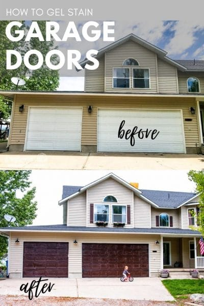 How to Gel Stain Garage Doors