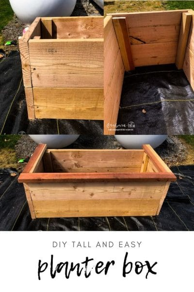 DIY Tall Planter Box