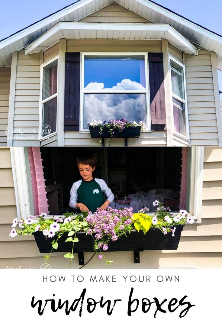 Looking for inexpensive window boxes that still look great? Check out this tutorial for your solution! $10 on a box and $20 on brackets is all you need!