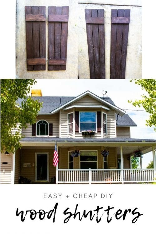 Making wood shutters is so easy and way more cost-effective than buying them or vinyl shutters! Follow this easy tutorial for step-by-step instructions.