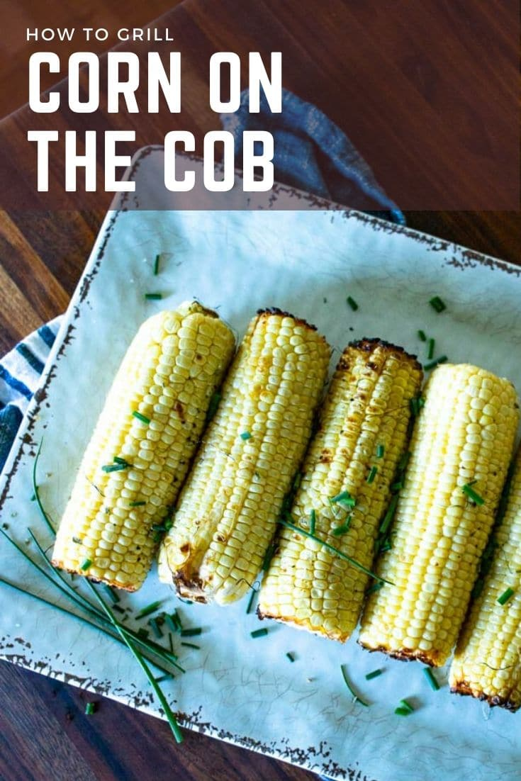 Grilling corn on the cob is a super easy way to use up those fresh summer veggies! Sweet corn with a slight char is the perfect summer veggie.