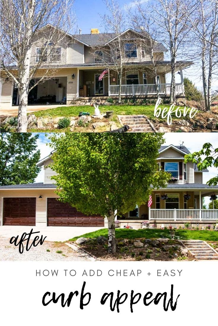Looking for inexpensive easy ways to spruce up the exterior of your home? I've got you covered! Great ideas with before and after photos!