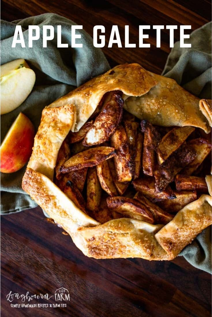This apple galette recipe is so simple and delicious. Whip it up in no time at all for an elegant and simple dessert everyone will love!