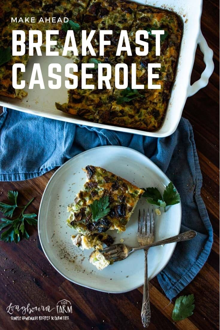 Savory breakfast casserole is the perfect start to any day! Delicious, flavorful, and filling. Prep it ahead of time for an even easier morning.