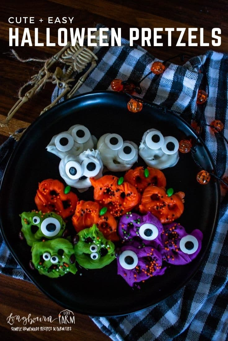 Halloween pretzels are a fun and festive holiday treat your family will love! Make them any design or color you want.