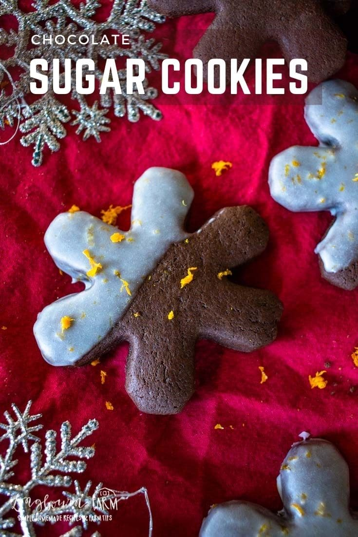Chocolate sugar cookies are a delicious twist on a classic! Perfect for cutout cookies and decorating any way you want.