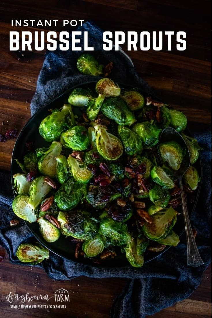 Instant Pot brussel sprouts are a tasty way to make a green side dish worthy of your dinner table. Caramelized and tender, they're a hit!
