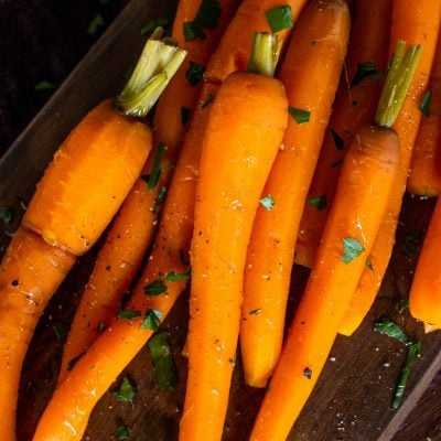 cooked long carrots