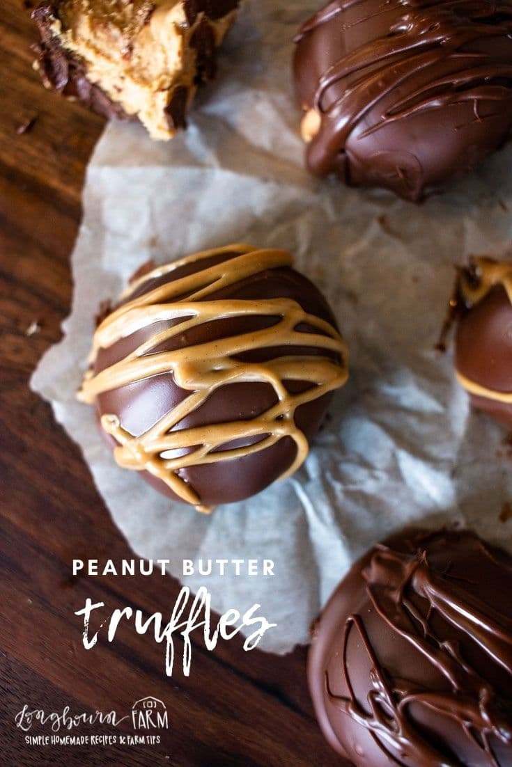 Peanut butter truffles are a delicious and creamy smooth peanut butter filling inside a coating of chocolate.