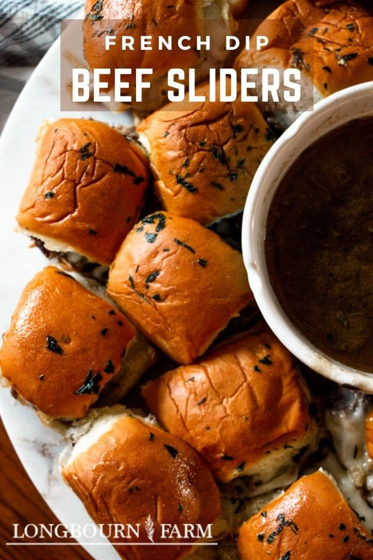 (#sponsored) French Dip Sliders are the perfect bite for tailgating, a party, or a quick dinner. They are packed with beefy flavor and easy to make in the pressure cooker.